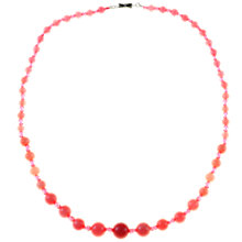 Buy Alice Joseph Vintage 1950s Raspberry Sorbet Bead Necklace, Pink Online at johnlewis.com
