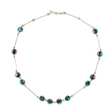 Buy Alice Joseph Vintage 1930s Gold Plated Glass Bead Necklace, Green/Pink Online at johnlewis.com