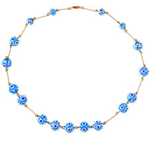 Buy Alice Joseph Vintage 1950s Ceramic Hand Printed Bead Necklace, Blue/White Online at johnlewis.com