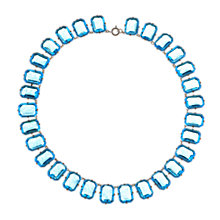 Buy Alice Joseph Vintage 1930s Aqua Glass Collar Necklace, Aqua Online at johnlewis.com