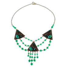Buy Alice Joseph Vintage 1930s Art Deco Glass Bead Necklace, Green Online at johnlewis.com