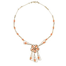Buy Alice Joseph Vintage 1960s Deco Diamante Necklace, Pink / Gold Online at johnlewis.com