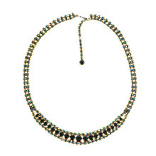 Buy Alice Joseph Vintage 1950s Aurora Borealis Diamante Necklace, Green Online at johnlewis.com