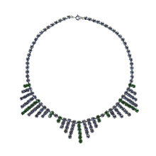 Buy Alice Joseph Vintage 1950s Diamante Necklace, Green / White Online at johnlewis.com