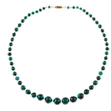 Buy Alice Joseph Vintage Malachite and Glass Bead Necklace, Green Online at johnlewis.com