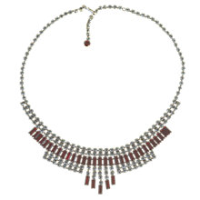 Buy Alice Joseph Vintage Diamante Necklace, Red / White Online at johnlewis.com