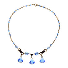 Buy Alice Joseph Vintage 1920s Bohemian Crystal Bead Chrome Plated Necklace, Blue Online at johnlewis.com