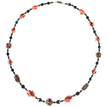 Buy Alice Joseph Vintage Lampworked Beaded Necklace, Black Online at johnlewis.com