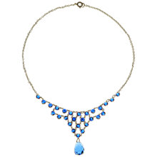 Buy Alice Joseph Vintage 1930s Gold Plated Crystal Drop Necklace, Blue Online at johnlewis.com
