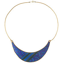 Buy Alice Joseph Vintage Gilt Plated Enamel Collar Necklace, Blue Online at johnlewis.com
