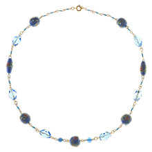 Buy Alice Joseph Vintage 1930s Venetian Lampworked and Crystal Bead Gold Plated Necklace, Blue Online at johnlewis.com