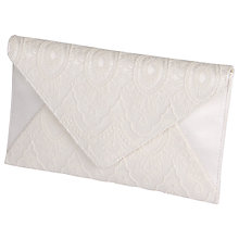 Buy Rainbow Club Lisette Lace Envelope Clutch Bag, Ivory Online at johnlewis.com