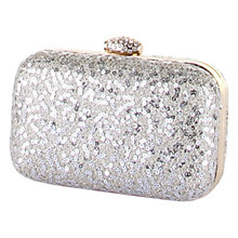 Buy Rainbow Club Rene Sequin Clutch Bag, Silver Online at johnlewis.com