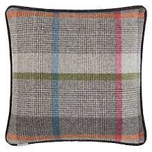Buy Bronte by Moon Malham Multi Check Cushion, Multi Online at johnlewis.com