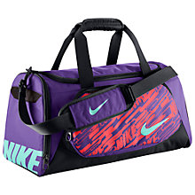 Buy Nike Cheyenne Small Duffel Bag, Hyper Grape Online at johnlewis.com