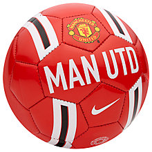 Buy Nike Manchester United Supporters Skills Football, Red Online at johnlewis.com
