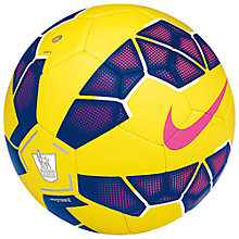 Buy Nike Strike Premier League Replica Football, Size 5, Yellow/Purple Online at johnlewis.com