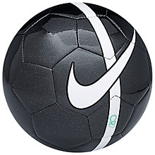 Buy Nike CR7 Prestige Football, Size 5, Black Online at johnlewis.com