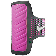 Buy Nike Sportax Armband, Pink/Black Online at johnlewis.com