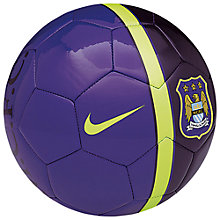 Buy Nike Manchester City Supporters Skills Football, Size 1, Court Purple/Hot Lime Online at johnlewis.com