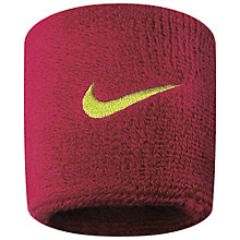 Buy Nike Swoosh Wristband Online at johnlewis.com
