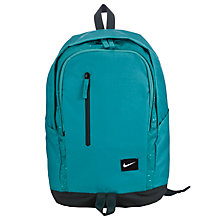 Buy Nike All Access Soleday Backpack, Green Online at johnlewis.com