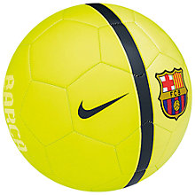Buy Nike Barcelona Supporters Football, Size 5, Volt/Loyal Blue Online at johnlewis.com
