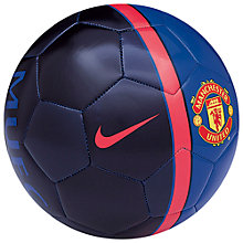 Buy Nike Manchester United Supporters Football, Blue Online at johnlewis.com