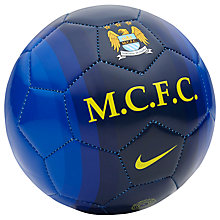 Buy Nike Manchester City Supporters Skills Football, Blue Online at johnlewis.com