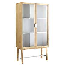 Buy House by John Lewis Espen Tall Glass Cabinet Online at johnlewis.com
