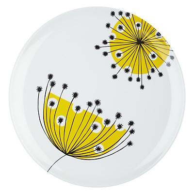 MissPrint Dandelion Mobile Dinner Plate, Yellow