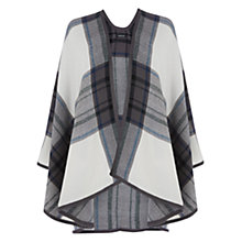 Buy Warehouse Checked Cape, Cream Online at johnlewis.com