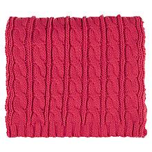 Buy Warehouse Cable Scarf, Coral Online at johnlewis.com