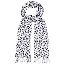 Buy White Stuff Moth Spot Scarf, Off White Online at johnlewis.com