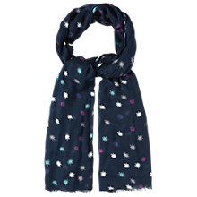 Buy White Stuff Star Burst Scarf, Griffin Blue Online at johnlewis.com