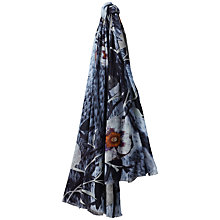 Buy Jaeger Ice Winter Floral Modal Scarf, Navy Online at johnlewis.com