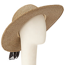 Buy John Lewis Glam Floppy Black Tie Hat, Brown Online at johnlewis.com