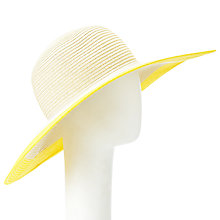 Buy John Lewis Colour Block Floppy Hat, Natural Online at johnlewis.com