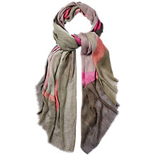 Buy Jaeger Abstract Shape Silk Blend Scarf Online at johnlewis.com