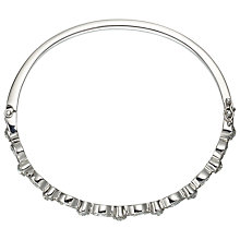 Buy John Lewis Czech Stone Hinged Bangle, Silver Online at johnlewis.com