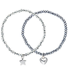 Buy Estella Bartlett Christmas Duo Pack Of Bracelets, Silver/Clear Online at johnlewis.com