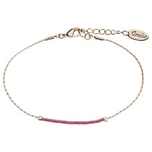 Buy Orelia Slinky Beaded Bracelet, Pink Online at johnlewis.com