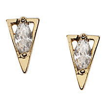 Buy Orelia Crystal Triangle Stud Earrings, Gold Online at johnlewis.com
