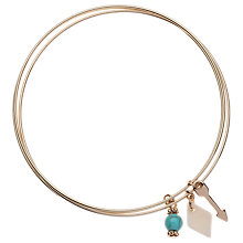 Buy Orelia Arrow Charm Bangle Set, Gold Online at johnlewis.com