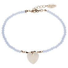 Buy Orelia Sparkle Bead & Shell Bracelet, Blue Online at johnlewis.com