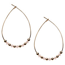 Buy Orelia Open Beaded Teardrop Earrings, Multi Online at johnlewis.com