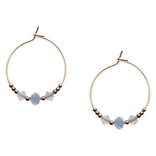 Buy Orelia Wrapped Chip Hoop Earrings, Pale Blue Online at johnlewis.com