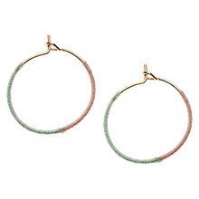 Buy Orelia Fabric Wrapped Hoop Earrings, Multi Online at johnlewis.com