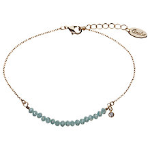 Buy Orelia Sparkle Bead Chain Bracelet, Blue Online at johnlewis.com