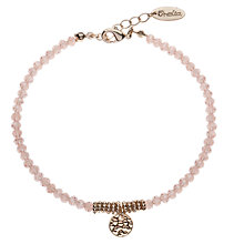 Buy Orelia Sparkle Bead & Disc Bracelet, Pink Online at johnlewis.com